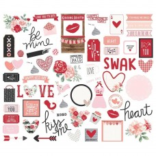Recortes em cardstock - Kissing Booth Bits & Pieces Die-Cuts 66/Pkg