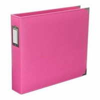 Álbum American Crafts - Project Life Classic Faux Leather D-Ring Album  Blush