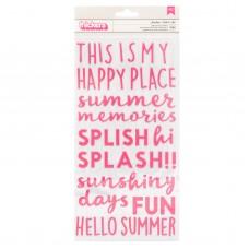 Alfabeto - Sun & Fun Thickers Stickers 1 Phrase/Puffy