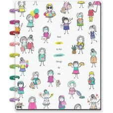 Caderno de disco - Happy Planner Classic Notebook Stick Babe- Find Joy
