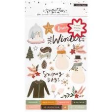 Adesivo - Snowflake Sticker Book 250/Pkg W/Copper Foil Accents