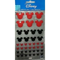 Adesivo - Disney Self-Adhesive Epoxy Tiles, Mickey Icon/Red and Black