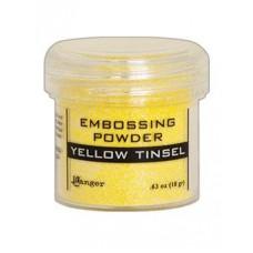 Pó de emboss - Embossing Powder yellow Tinsel