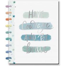 Caderno de disco - Happy Planner Medium Notebook Have Courage & Be Brave