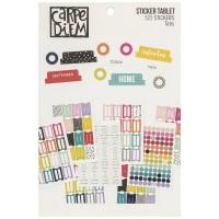 Adesivo - Carpe Diem A5 Planner Sticker Tablet Tabs/Labels/Reinforcers