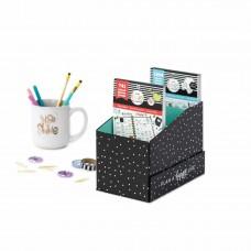 Caixa - Happy Planner Sticker Book Storage Box Black Dots