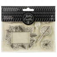 Carimbo - Kelly Creates Acrylic Traceable Stamps Tropical