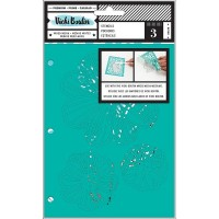Stencil - Vicki Boutin Mixed Media Stencils 3/Pkg Field Notes