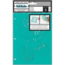 Stencil - Vicki Boutin Mixed Media Stencils 3/Pkg Field Notes