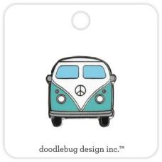 Flea Market Collectible Enamel Pin Beach Bus