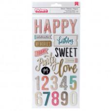 Adesivo - Maggie Holmes Confetti Thickers Stickers  Celebrate Phrases/Chipboard