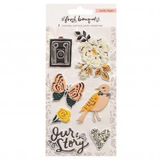 Adesivo - Fresh Bouquet Embossed Puffy Stickers