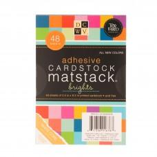 Bloco de Cardstock Adesivado Bright