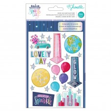 Adesivo - Shimelle Sparkle City Sticker & Washi Folder 364/Pkg