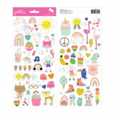 Adesivo - Live Life Happy Cardstock Stickers Icons W/Foil Accents