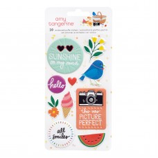 Adesivo  - Amy Tan Picnic In The Park Embossed Puffy Stickers