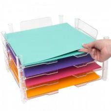 Organizador de papel - We R Stackable Acrylic Paper Trays