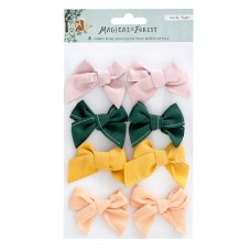 Enfeite - Magical Forest Fabric Bows 8/Pkg