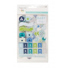 Adesivo chipboard - Project Life Chipboard Stickers Baby Boy Edition