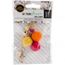 Pingente - My Prima Planner Pom Pom Key Fucsia