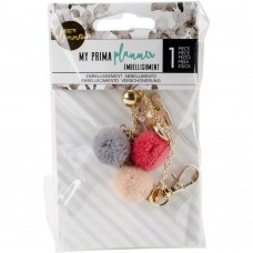 Pingente - My Prima Planner Pom Pom Key Kitty Cat Love