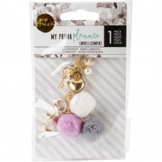 Pingente - My Prima Planner Pom Pom Key Key To My Heart