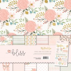 PROMO - Papel + Adesivo chipboard - MME Bliss Collection