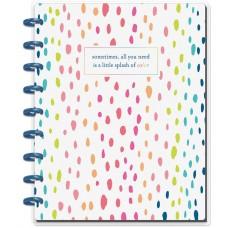 Caderno de disco - Happy Planner Medium Notebook A Little Splash Of Color, Dot Grid