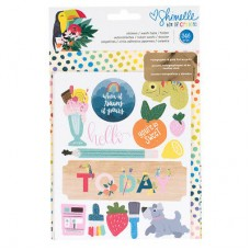 Refil Diário de viagem - American Crafts Journal Studio Inserts 2/Pkg Happy By Heidi Swapp