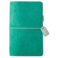 Diário de viagem - Color Crush Traveler's Notebook Planner  Green suede